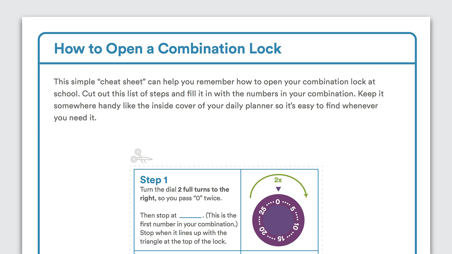 Download How To Open A Combination Lock