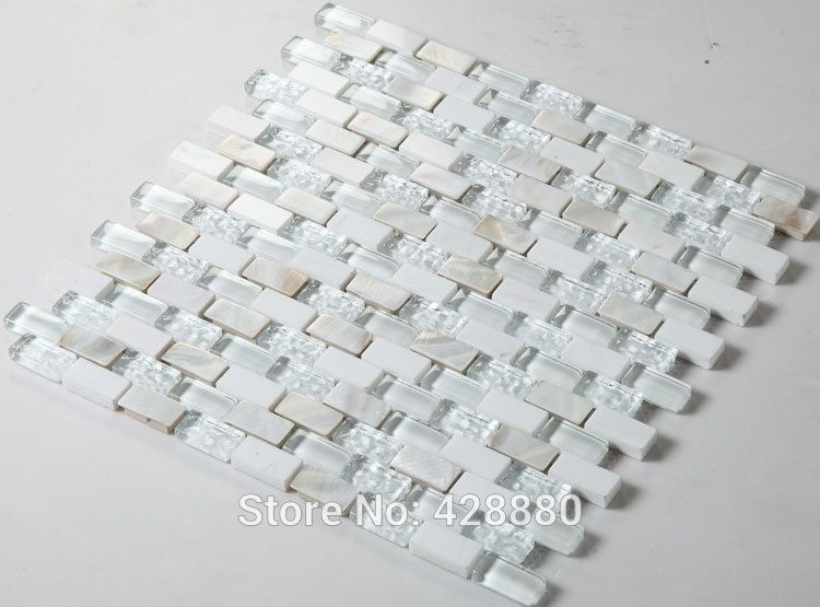 Glass mosaic tile backsplash mirrored subway tiles mosaic stone tile ...
