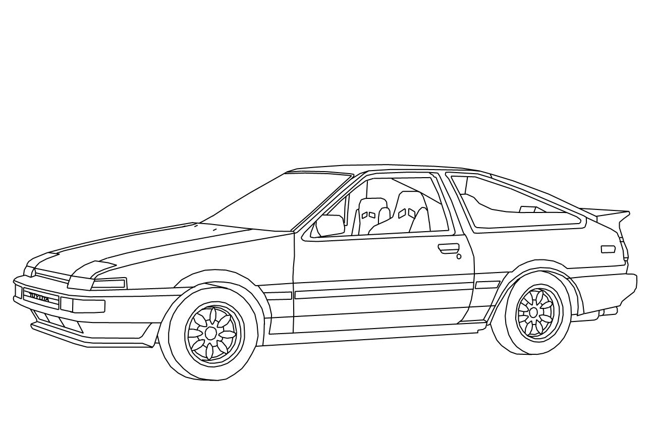 Sports Car Drawing