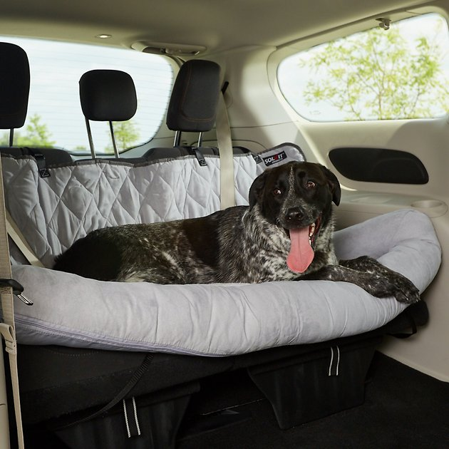 Petsafe Happy Ride Car Seat Dog Bed Bucket Brown Small Chewy Com Car Dog Bed Dog Car Seats Dog Bed Large