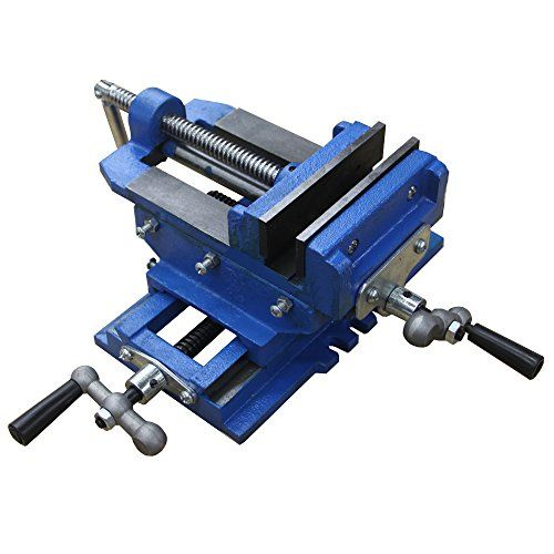 Hardware Factory Store 2 Way 4 Inch Drill Press X Y Compound Vise Cross Slide Mill Durable Cast Iron Construction Powerful Serr Drill Press Metal Mill Drill