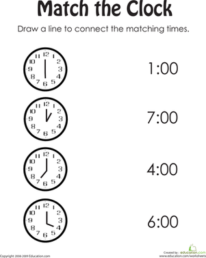 Clock Practice | Children's - Telling Time | Kindergarten worksheets ...