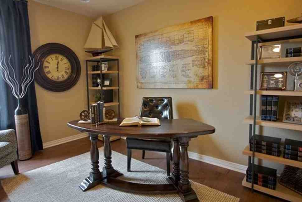 Work Office Decorating Ideas for Men in 2019 Rustic home