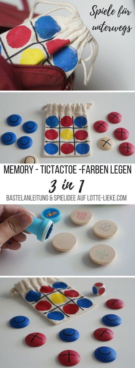 [DIY] Spiele basteln für Kinder - Spielsäckchen für unterwegs #steinbilderselbermachen