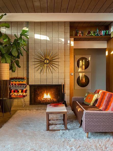 Vintage Retro Living Room In San Francisco Mid Century Living Room Retro Living Rooms Mid