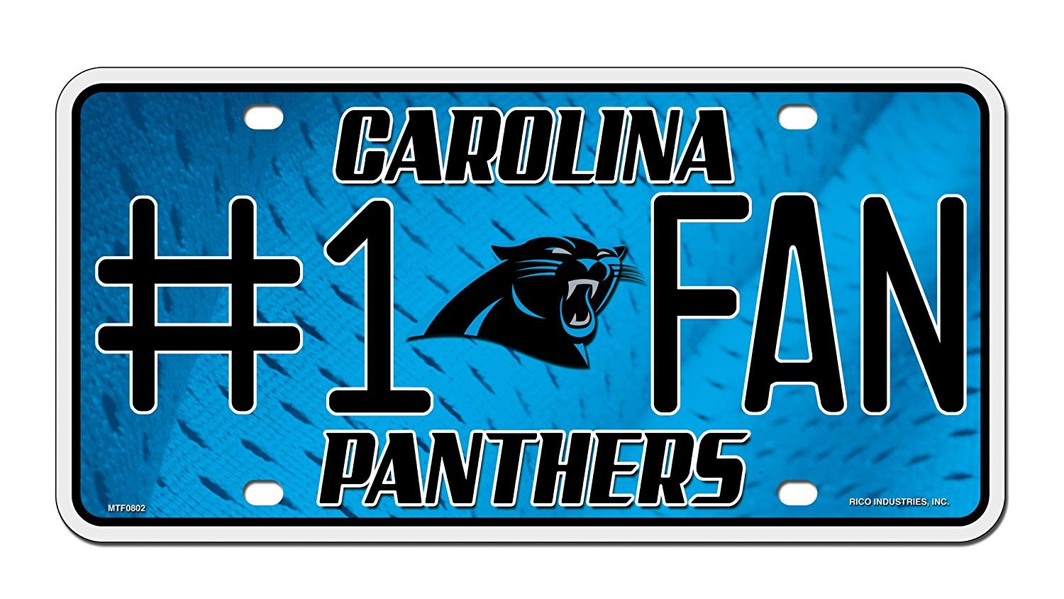superior quality 445bb 92cd2 Amazon.com : NFL Carolina Panthers #1 Fan Metal Auto Tag ...