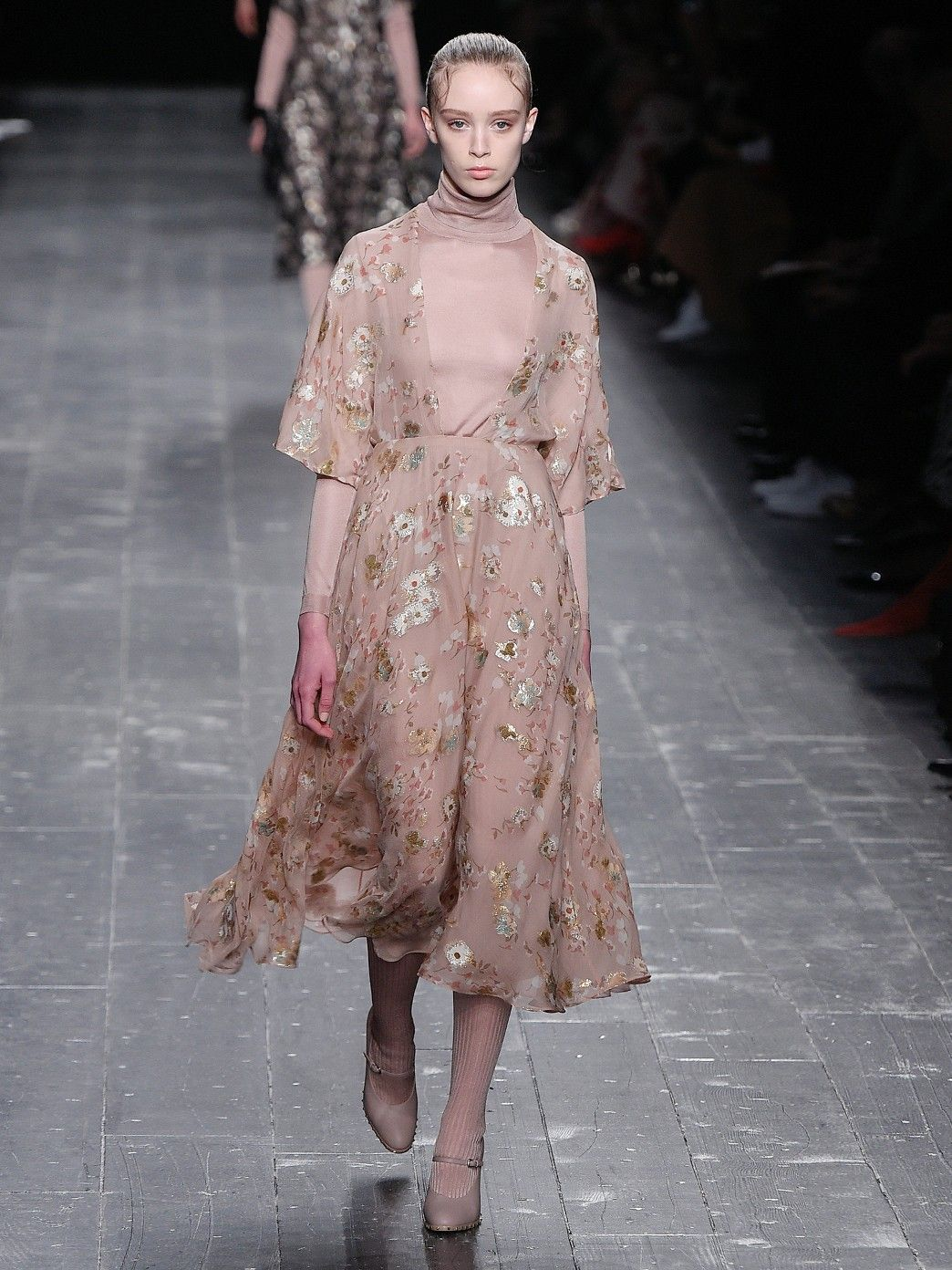 9773aa16607 Floral fil coupé midi dress