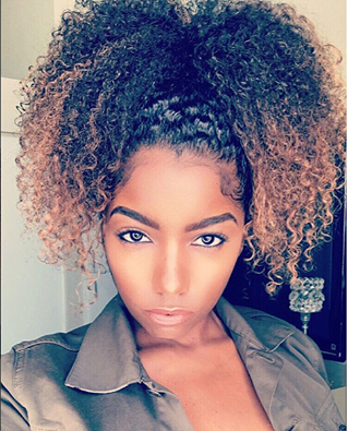 Awesome Curly Ponytail IG:@curldaze #naturalhairmag | Curly ...