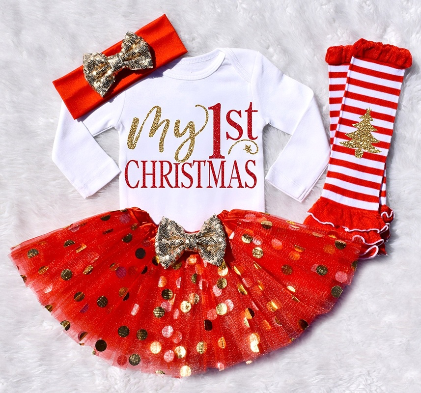 my first christmas baby girl outfit reindeer baby girl christmas outfit my 1st christmas baby red and gold baby christmas