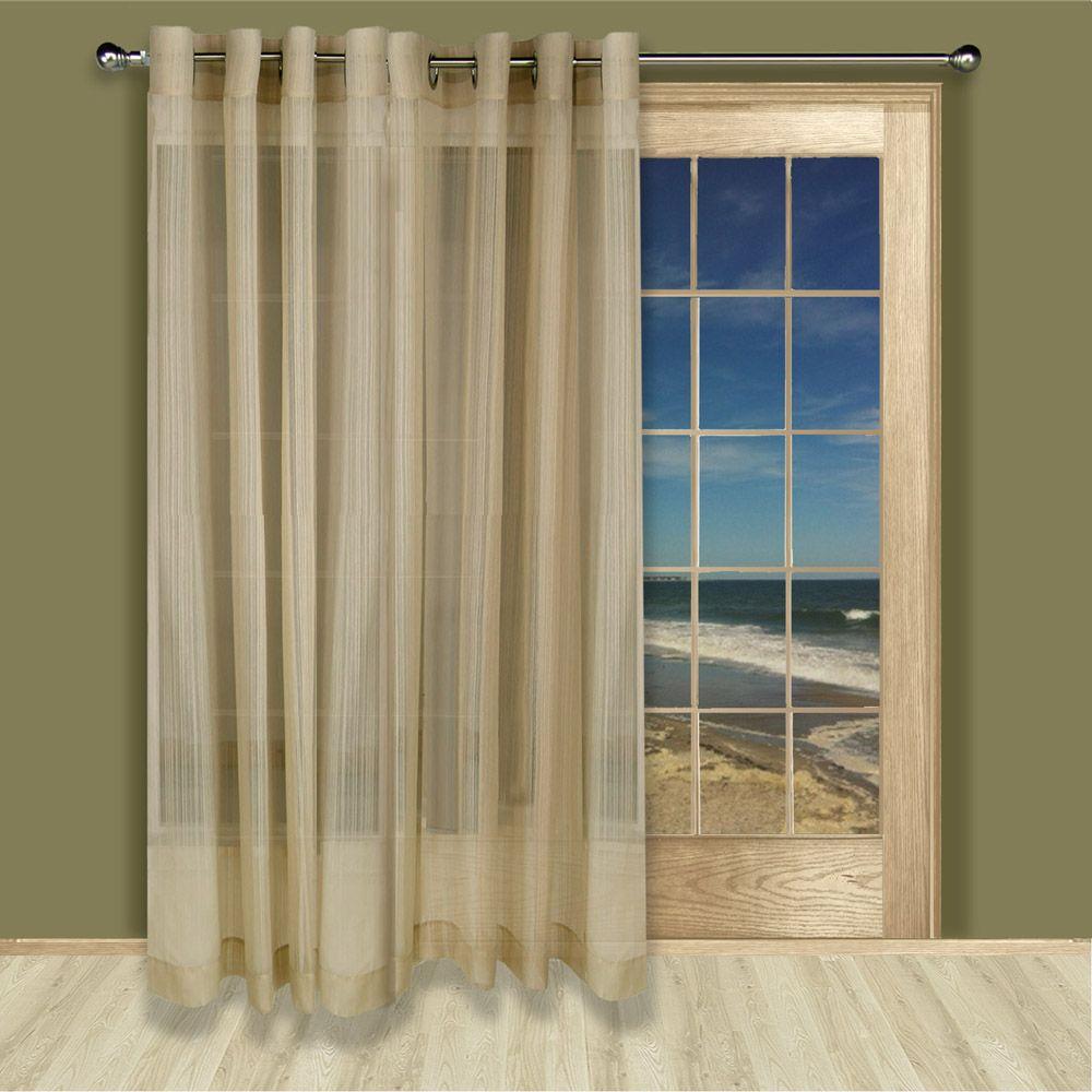 Atlantic Stripe Sheer Grommet Curtain