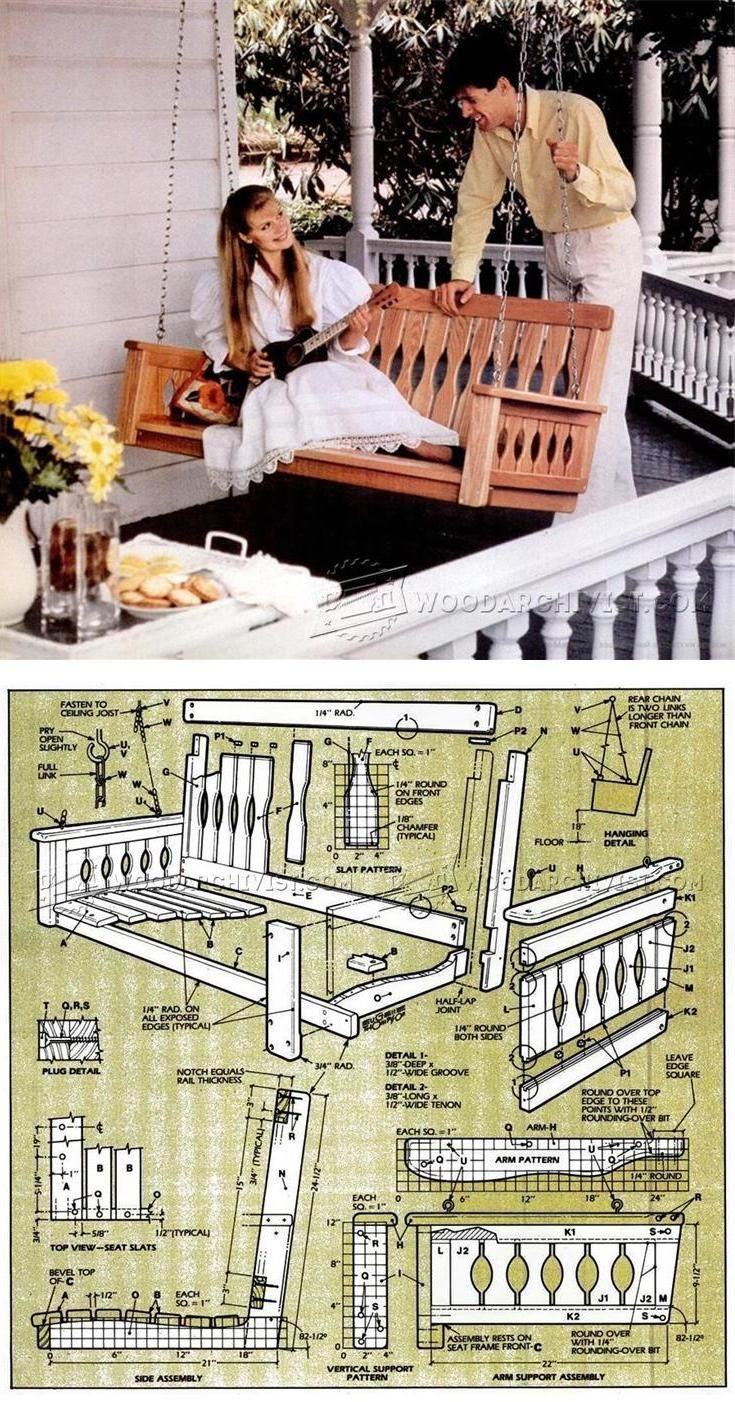 Porch swing plans outdoor furniture plans u projects