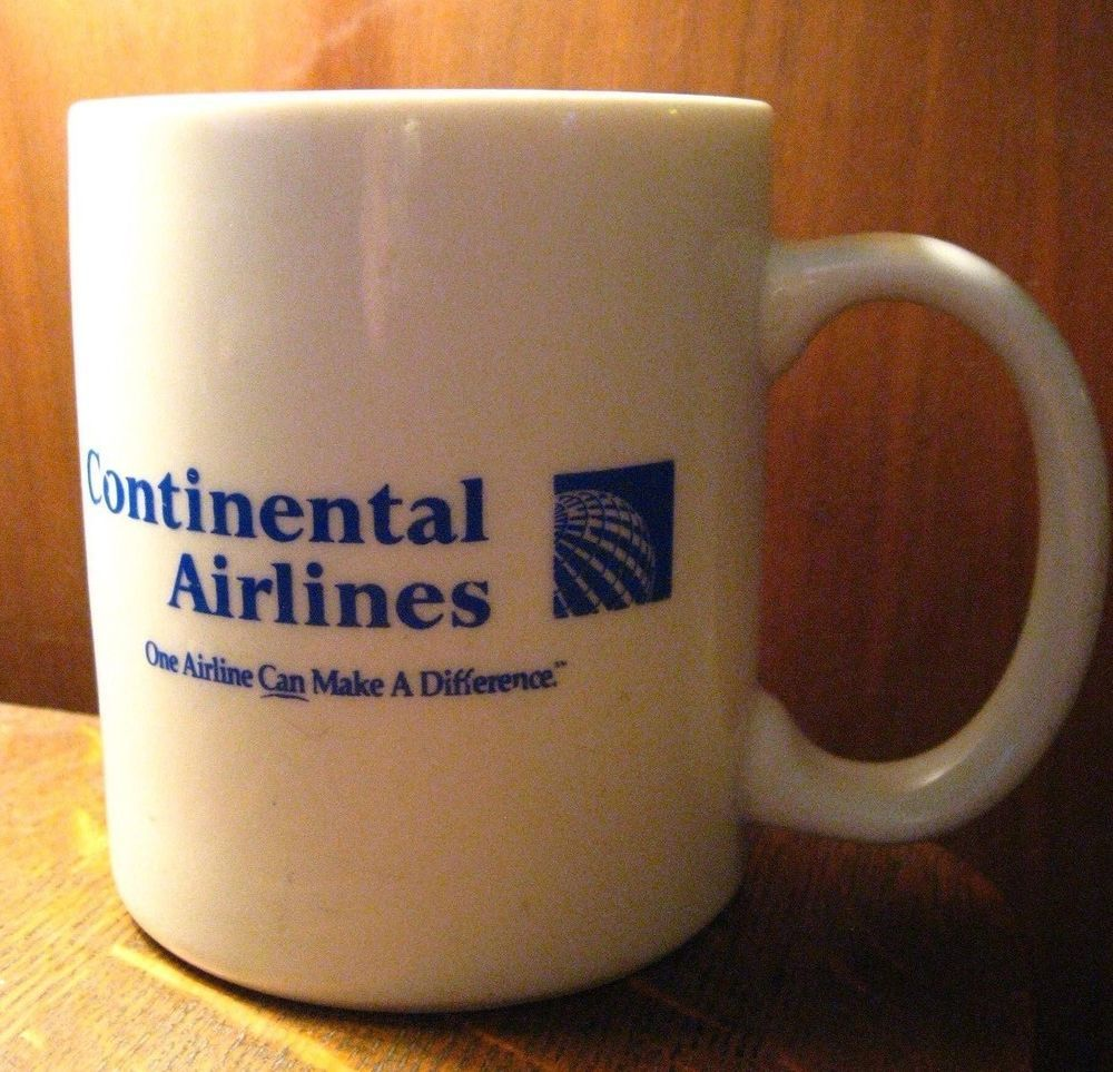 Continental Airlines Coffee Mug CO Daytona Beach Florida