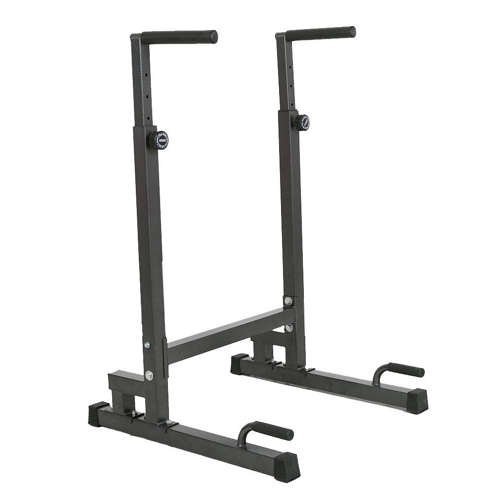 10beb7fad56c Lucky Tree Adjustable Strength Training Exercise Power Rack Exercise Stand  Bar for Home Gym. Material
