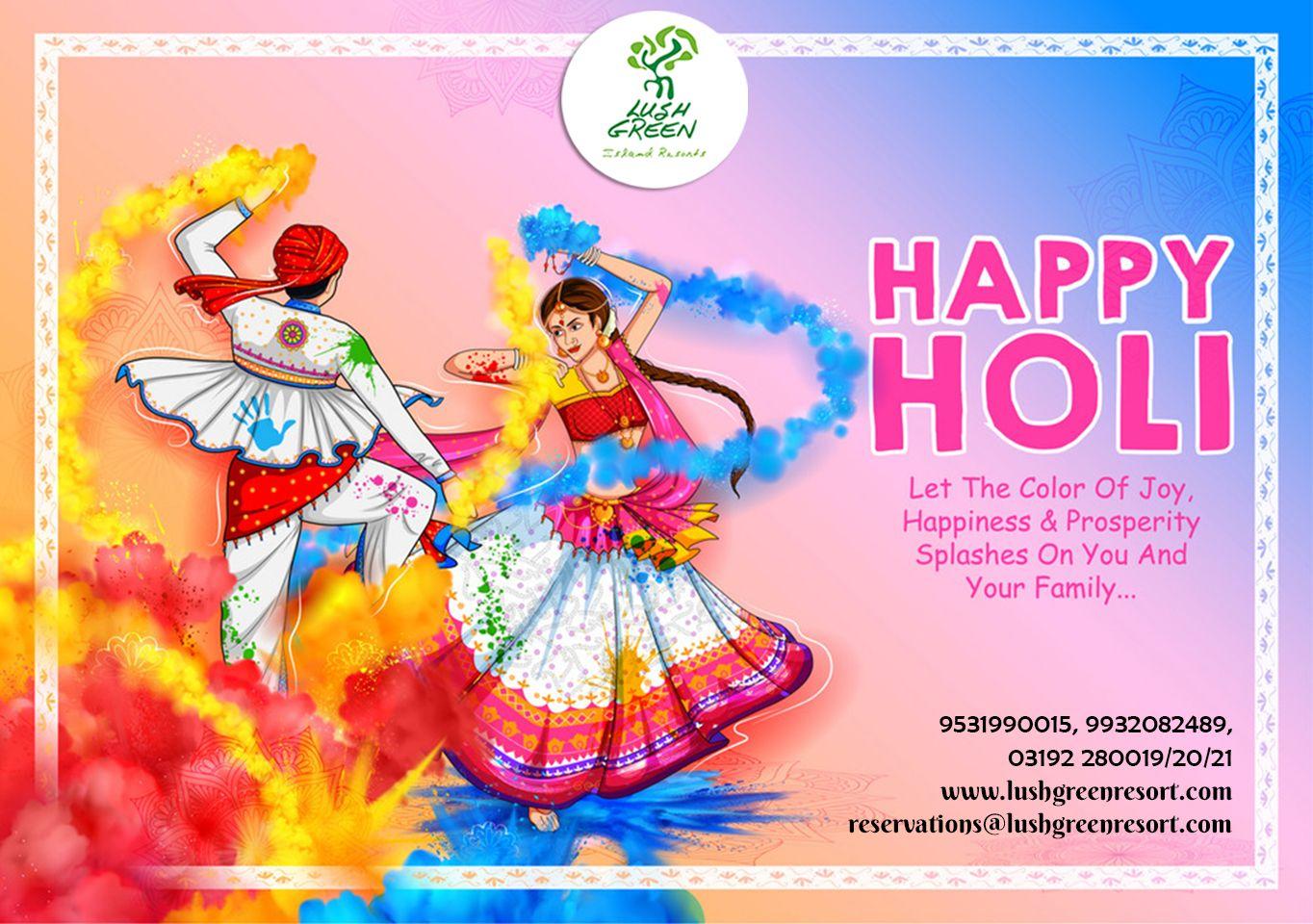 #Lush #Green #Resort, wishing you a very Happy Holi.  #holi #happyholi #india #festival #holifestival #love #colors #colours #color #holipowder #like #festivalofcolors #holifestivalofcolours #holihai #festivalofcolours #holifest #indianfestival #HappyHoli2020