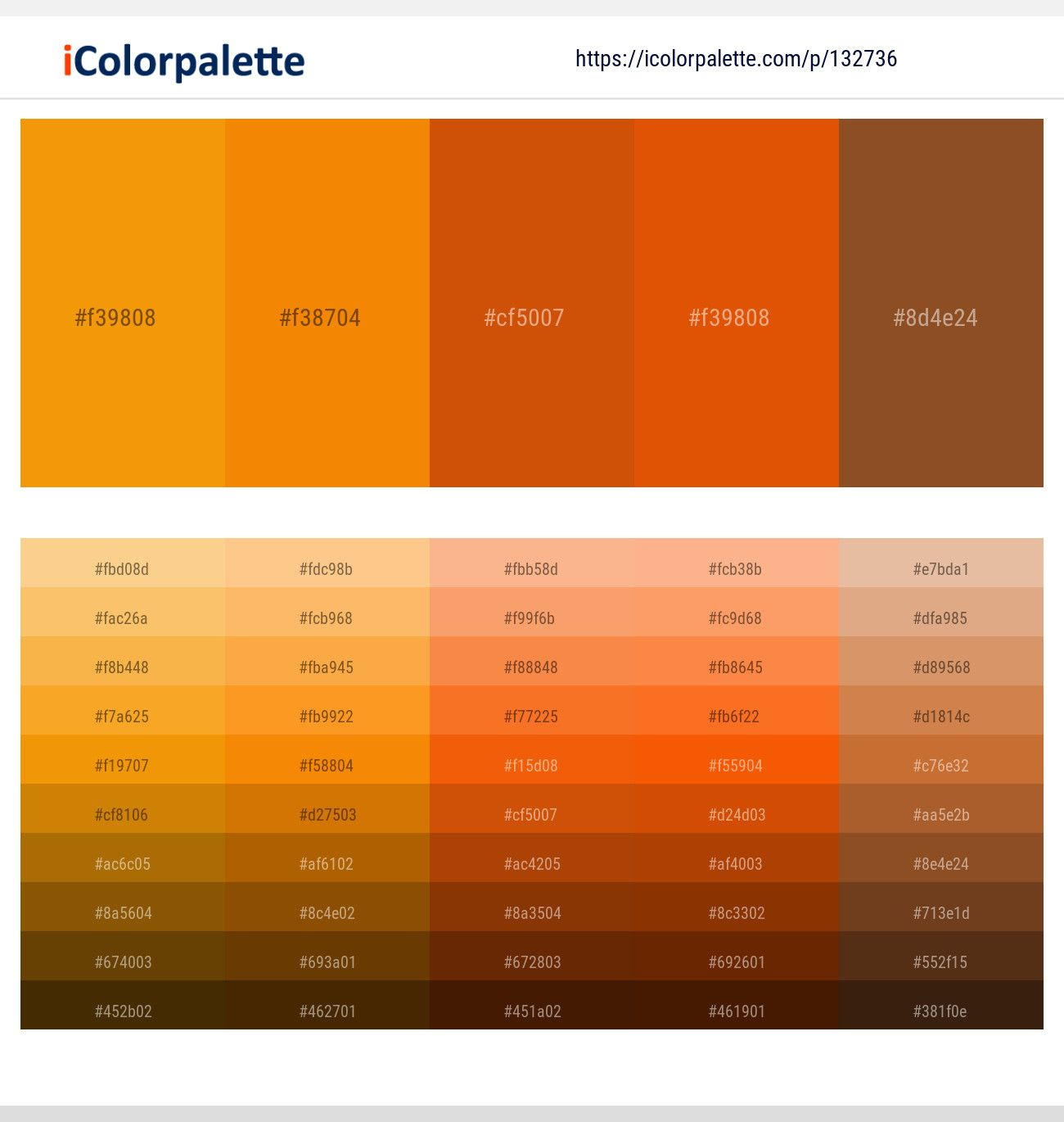 California Tangerine Red Stage Trinidad Cumin Color Scheme Icolorpalette Brown Color Palette Orange Palette Orange Color Palettes
