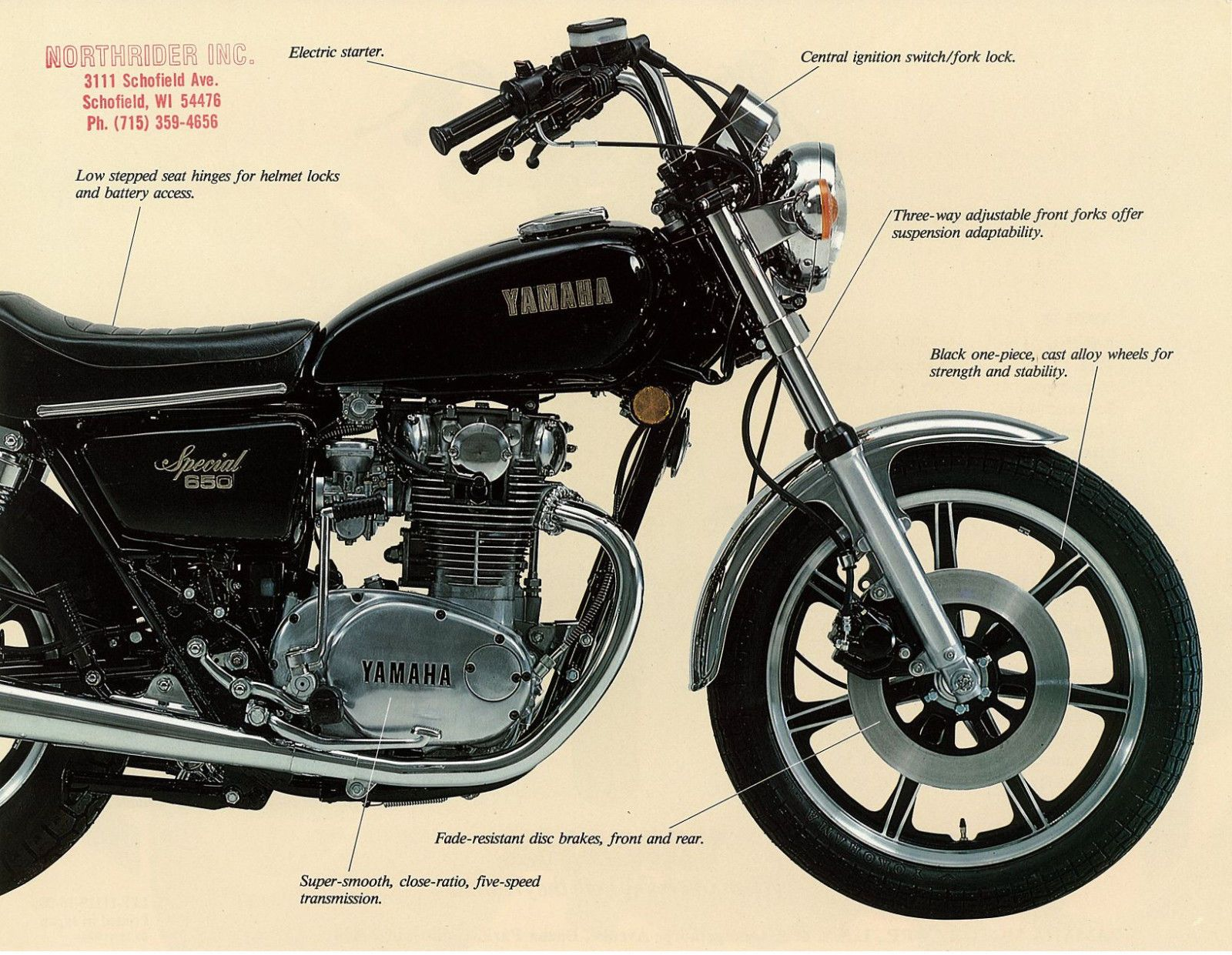 Details about YAMAHA Brochure XS650 XS650S XS650-SF 1979