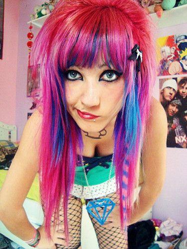 Colorful Hair Emo Fail Fat Girl Hair Beauty Hair Styles