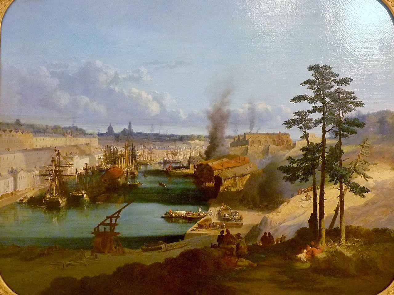 Jules Noel 1810 1881 Le Port De Brest 1846 Musee Des