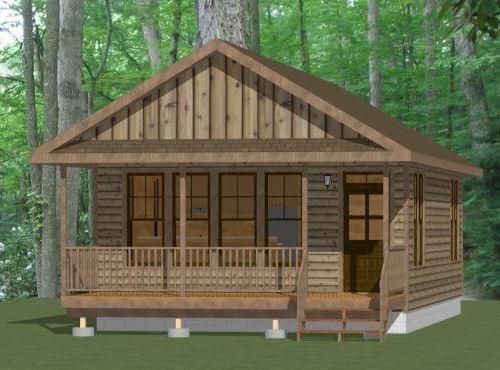 Tiny Home Designs: 20x32 House -- #20X32H5D -- 640 Sq Ft