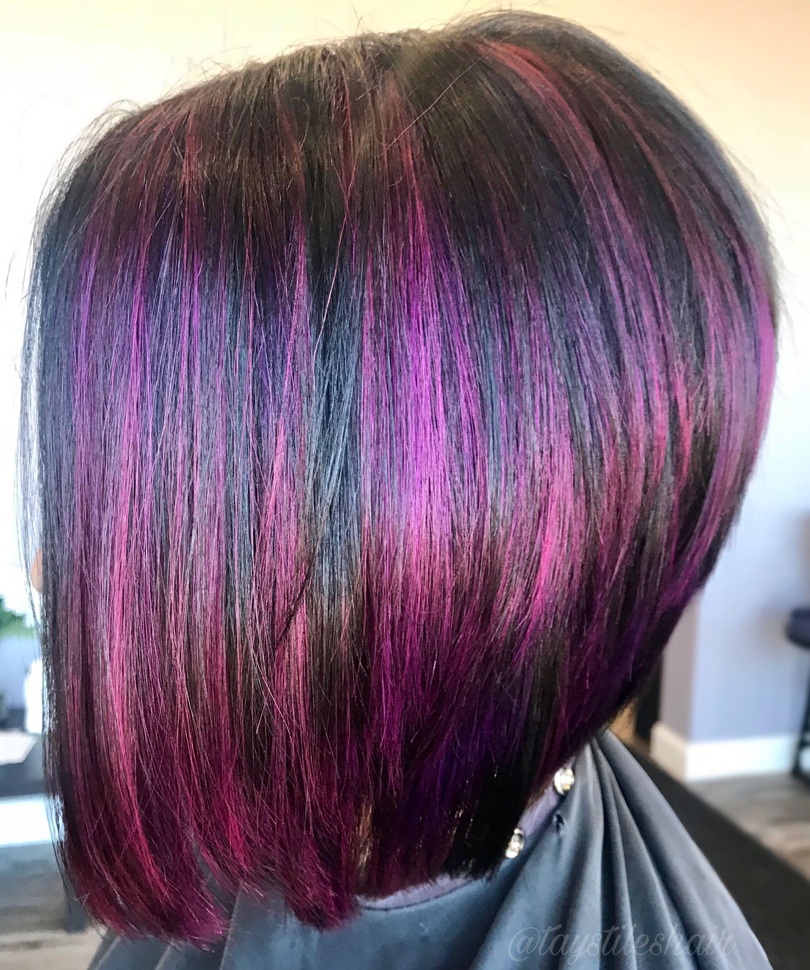 Purple Hair Bob Haircut Hair Pinterest Hair Cuts Hair And