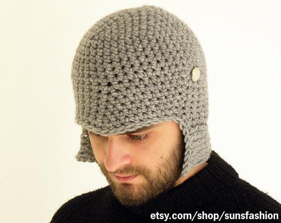 Boyfriend Gift Hat Crochet Slouch Mens Convertible Helmet Hat Winter