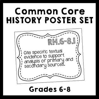 Common Core Writing in History/Social Studies Standards