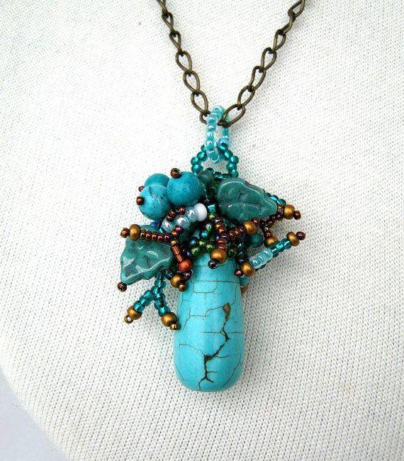 Beaded jewelry beaded pendant beadwork necklace fresh di ibics