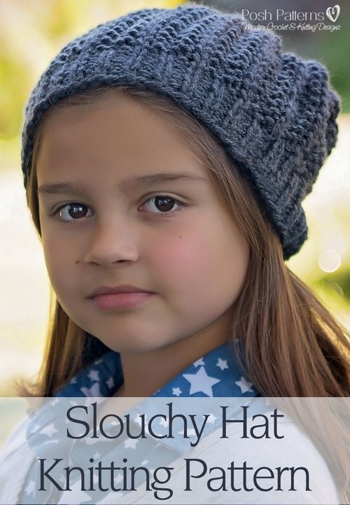 Slouchy Hat Free Knitting Pattern Slouchy Hat Easy Knitting And