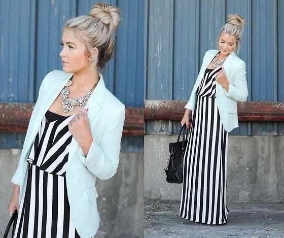 Un vestido maxi combinado con un blazer te dan elegancia + comodidad, ¿Que más se puede pedir?