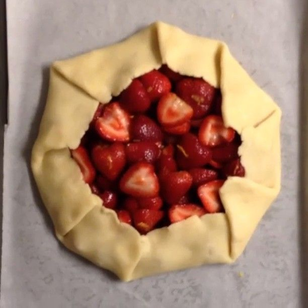 VIDEO: How to build a strawberry galette!