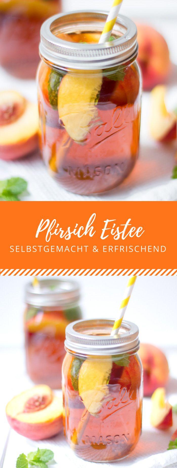 Pfirsich Eistee #fooddiy