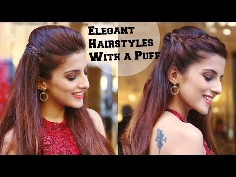 2 Min Elegant Hairstyles With A Puff For A Cocktail Party Hairstyles For Indian Wedding Occasions Elegant Hairstyles Indian Wedding Hairstyles Hair Styles