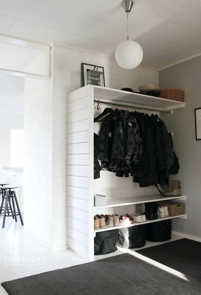 Aufbewahrungslösungen kleine Schlafzimmer ohne Schrank