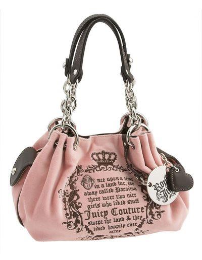 5601de5c8559 Juicy Couture Pink Velour Baby Fluffy Fairytale Purse