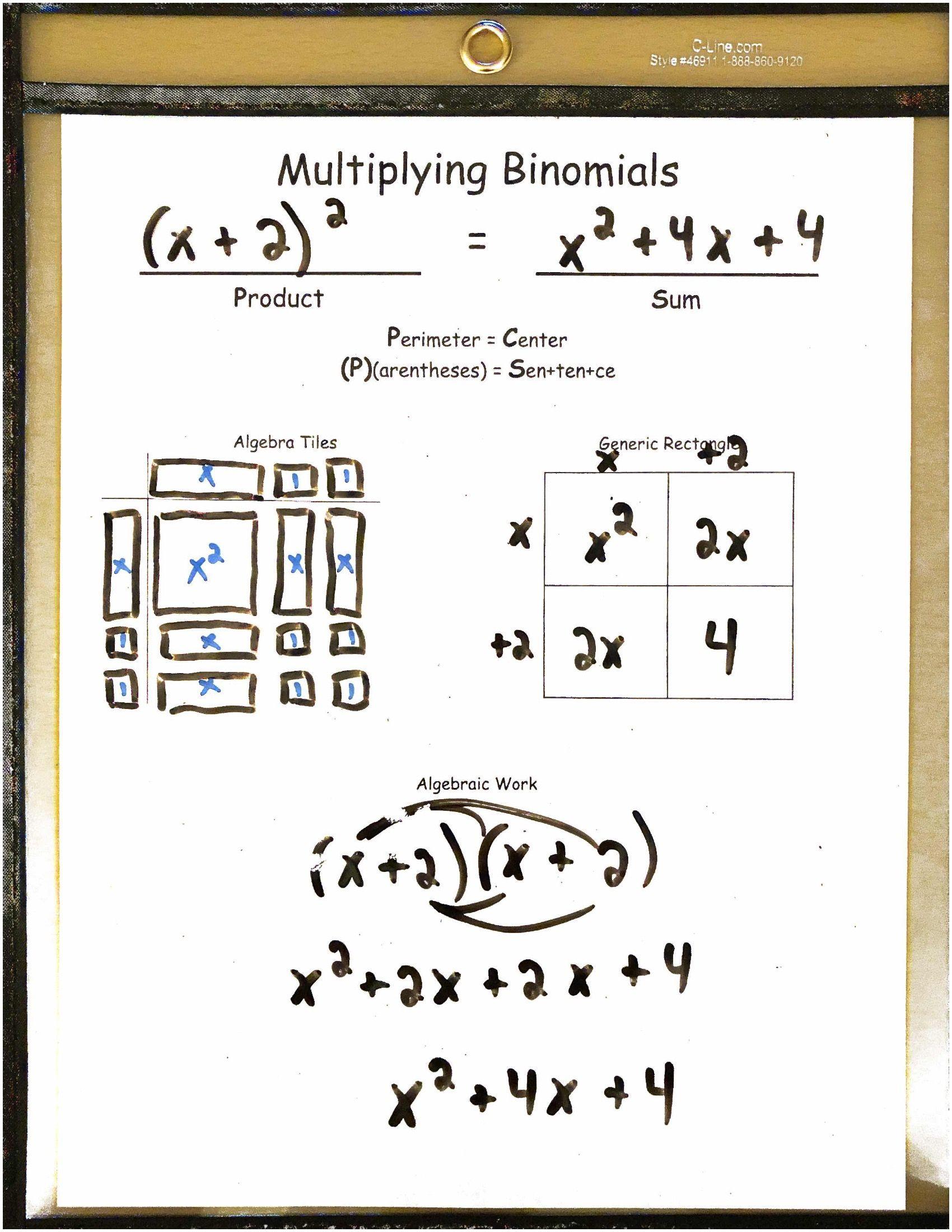 Multiplying Binomials Algebra 1 Reusable Dry Erase Pocket Guides Math Algebra1 Tpt Algebra Graphing Quadratics Algebra 1 [ 2200 x 1700 Pixel ]