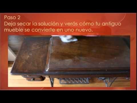Restaurar muebles  de madera con dos sencillos trucos ¿Cómo REPARARLO TODO
