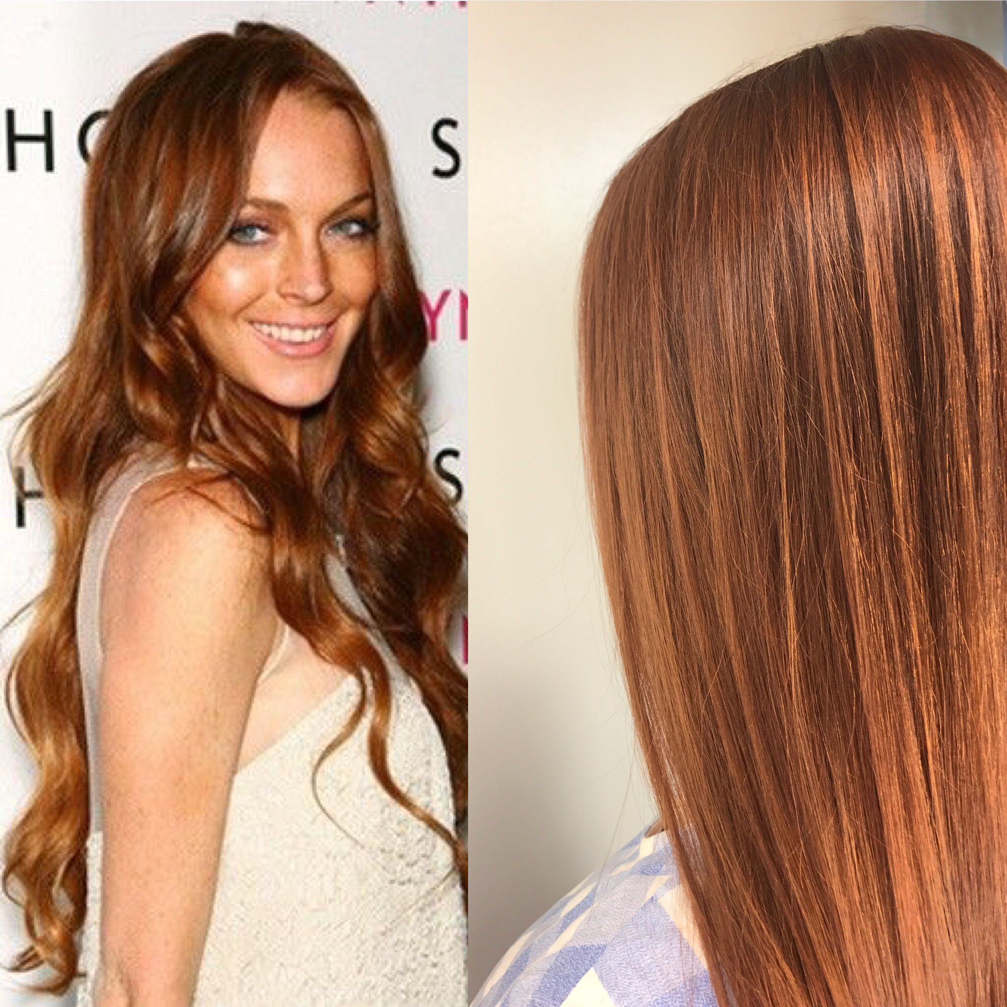 Lindsey Lohan Inspired Hair Color Red Hair Hairbypeytongibson