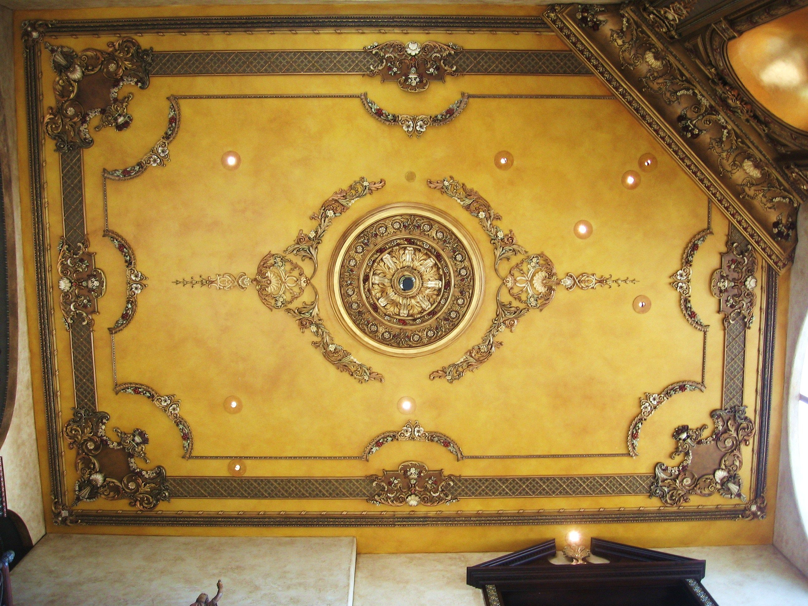 faux painted ceilings | The San Diego Palace in the Sky ceiling-with ...