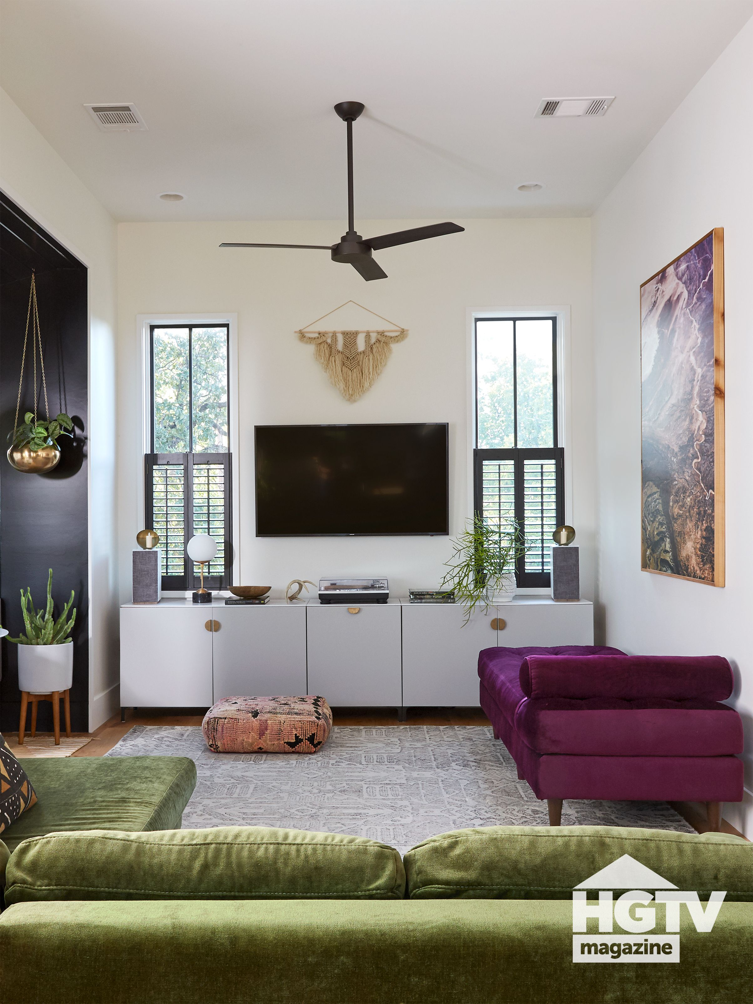 A Boho Style Living Room From Hgtv Magazine In 2020 Boho Style Living Rooms Home Condo Living #space #saving #ideas #living #room