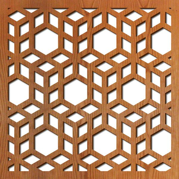 3d Cubes Pattern By Lightwave Laser Cutting Services For