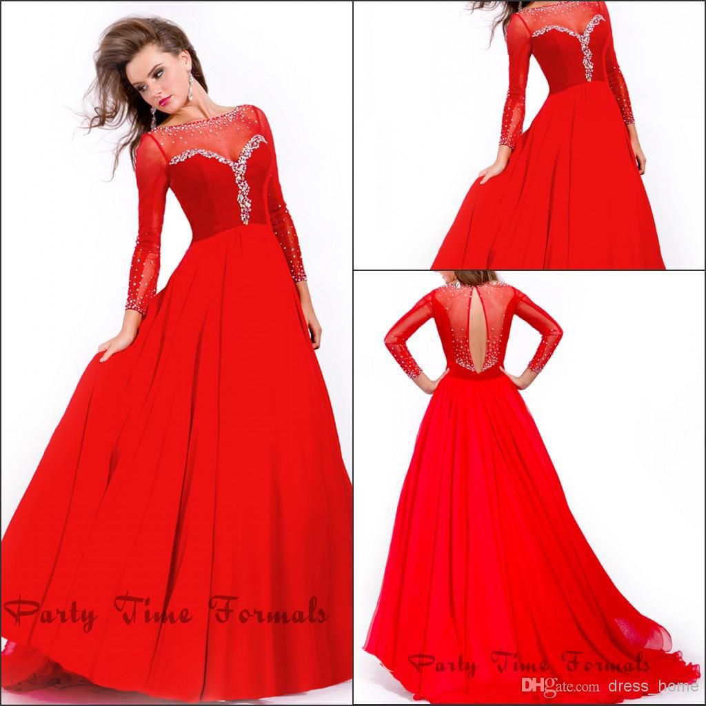 Best selling a line scoop long sleeve evening dresses floor length