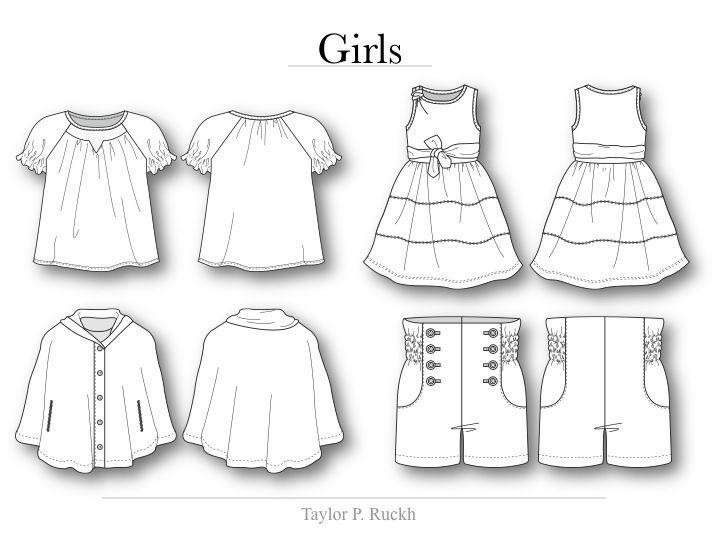 Flat Drawing Apparel Google Search Children Fashion Sketch Childrens Fashion Illustration Childrens Fashion Design