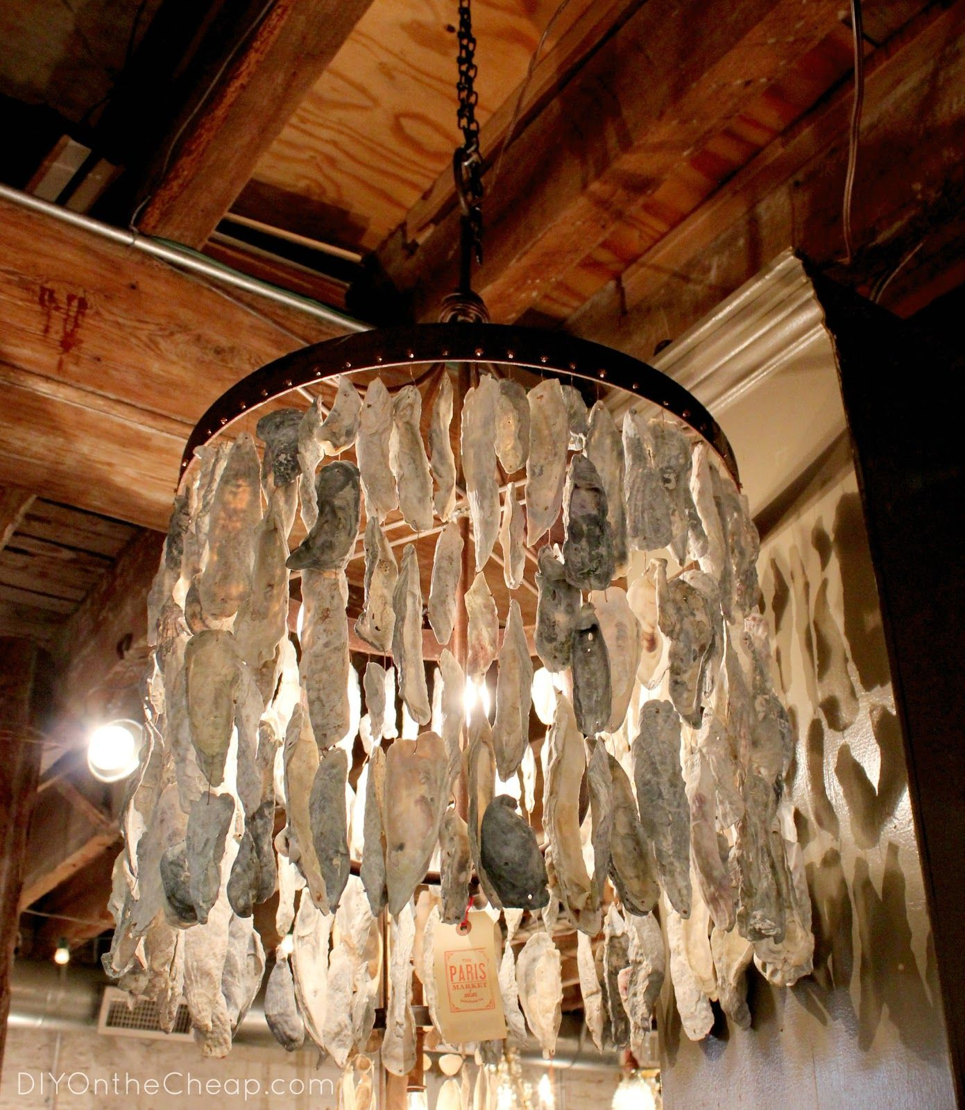 Savannah part 1 shopping shell chandelier oyster shells and gorgeous oyster shell chandelier spotted in the paris shop in savannah mozeypictures Choice Image