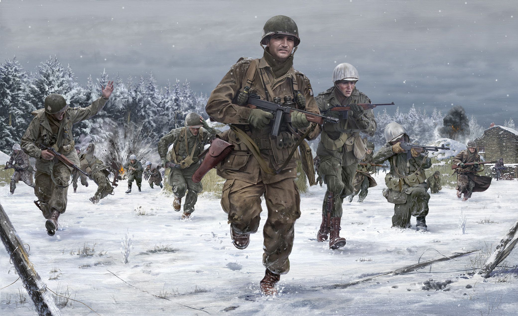 Day reenactment ww ii pictures pinterest - Taking The Town Of Foy Battle Of The Bulge