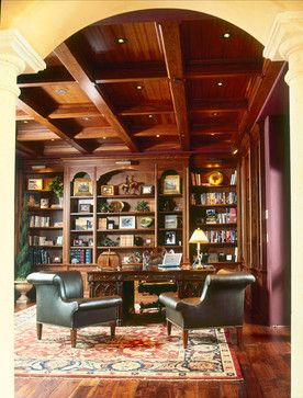 Bon Library Traditional Home Office