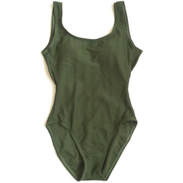 H /& M's  NEW Olive Green Women/'s Size 10-12 One-Piece Swimwear
