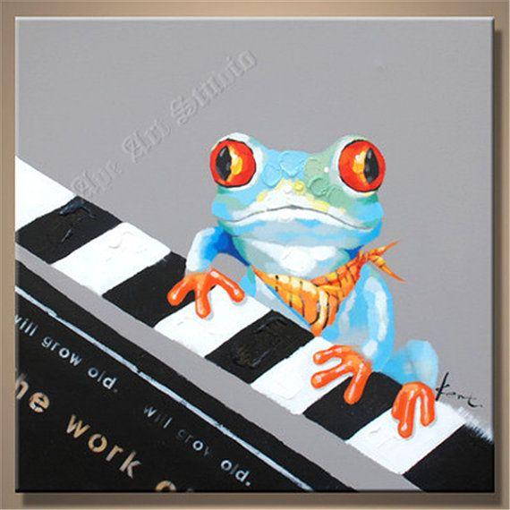 He encontrado este interesante anuncio de Etsy en https://www.etsy.com/es/listing/209281860/frog-oil-painting-large-oil-painting