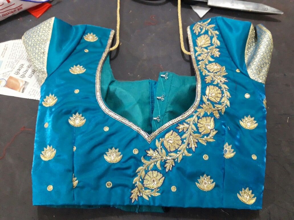 emb. designer blouse