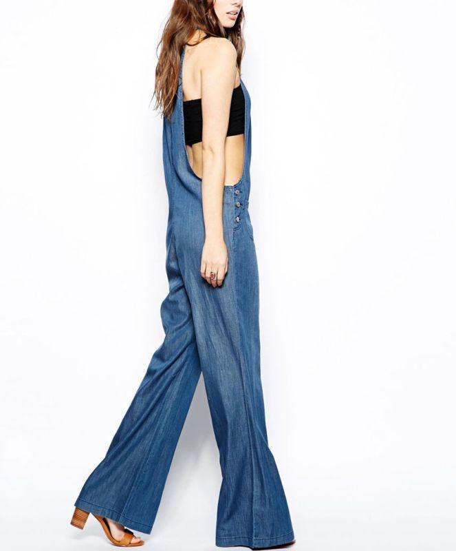 Bcbgeneration Mono Jumper para Mujer con detalle de cordón en Denim Azul M $128