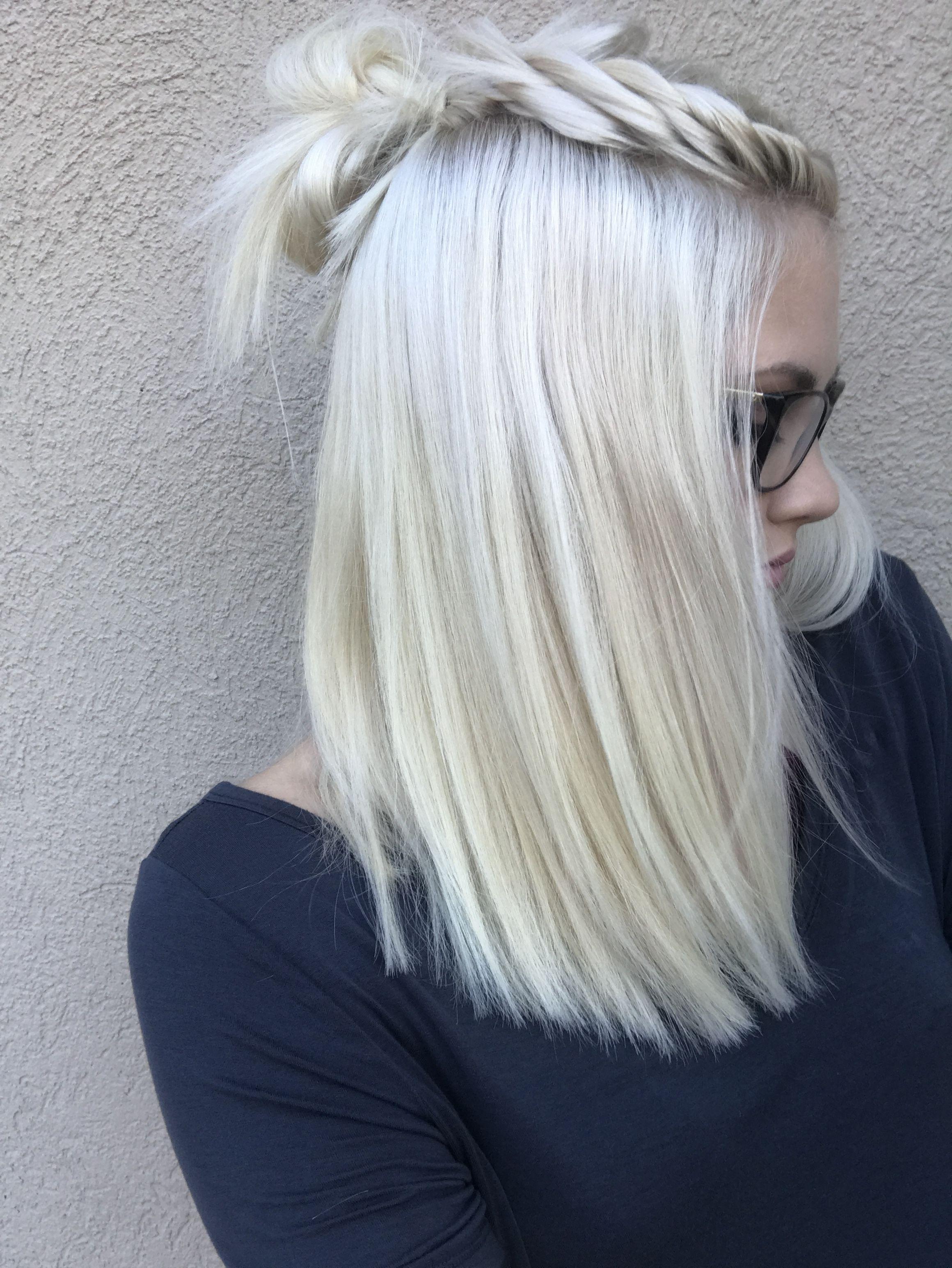 icy blonde hair ❄️❄️❄️ | hair ideas in 2019 | ice